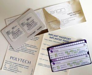 Carte implants mammaires Motiva Eurosilicone Polytech Arion